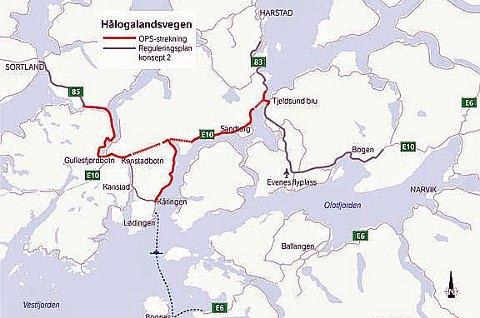 NORDNORGES STØRSTE: Dette blir det største samferdselsprosjekt i Nord-Norge, når E10 Hålogalandsvegen skal bygges i 2023. Kun tre leverandører har meldt seg på i konkurransen om å få tilslaget. Det reagerer Maskinentreprenørenes forbund på.