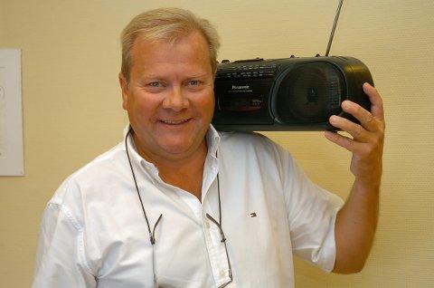 RADIOGRÜNDER: Anders Taaje i Radio Randsfjord. ARKIVBILDE