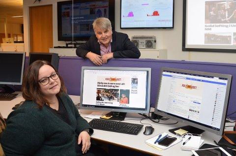 SAMARBEID MED LESERNE: Ansvarlig redaktør Erik Sønstelie og frontsjef Mina Watz oppfordrer Vestopplands lag og foreninger til å sende OA tekst, bilder og videoer fra sine aktiviteter.