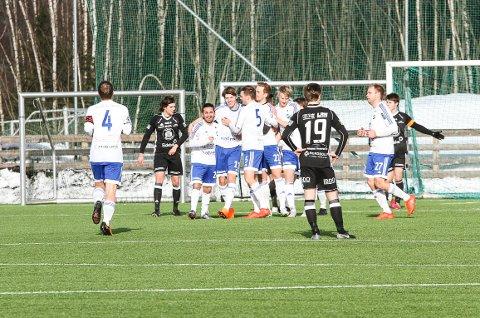Redalen jubler for Daniel Amliens scoring mot Kolbu/KK.