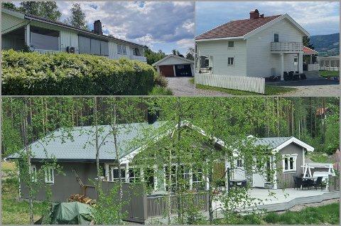 TOPP TRE: Boliger i Ruudsvegen, Tyskervegen og Hovlandsvegen var de dyreste i Søndre Land forrige måned.
