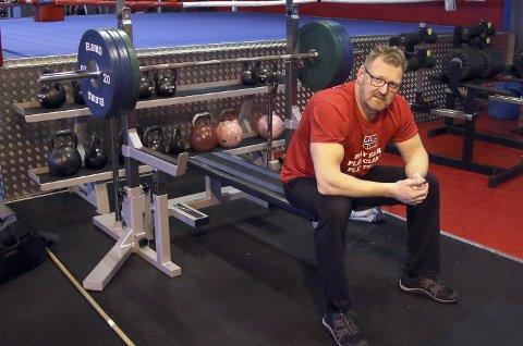 Mye trening: Bjørn Flem legger ned mange timer med trening på Sparta Treningssenter. 53-åringen holder samme nivå nå som da han var 20.  begge foto: knut Stenseth