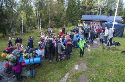 POPULÆRT: 250 ungdommer ble med på Seek and Find i Ski i fjor.