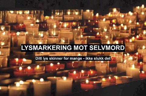 IKKE SLUKK DET: Hvert år slukkes flere hundre umistelige liv i selvmord. FOTO: LEVE