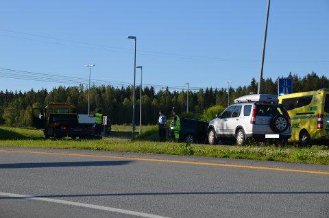 GIKK FORHOLDSVIS GREIT: En sjåfør har altså kjør av veien på påkjøringsveien på Taraldrud.