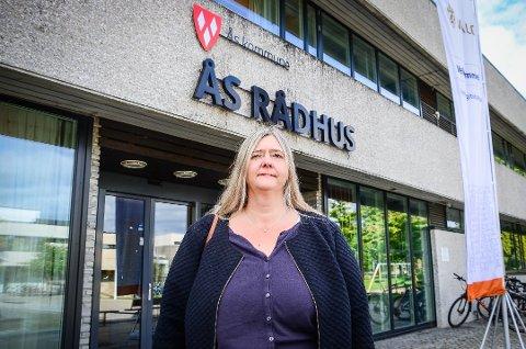 GIKK TILBAKE: Høyre gikk tilbake -1,8% i kommunevalget i Ås. Hilde Kristin Marås er skuffet.
