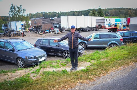 FRA NÆRINGSTOMT TIL GÅRD?: Kåre Høyer ønsker å få omregulert tomat til den nedlagte bensinstasjonen ved Årungen, slik at han kan bygge et gårdstun der. Det vil bidra til en forskjønnelse av hele området, sier han.