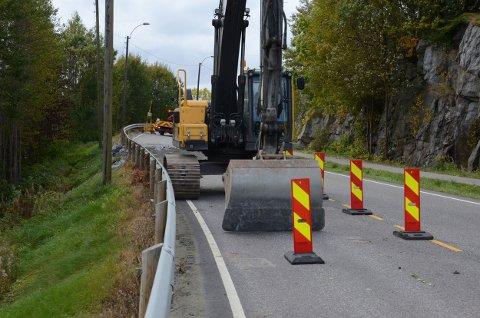 Siste innspurt på veien før den kan åpnes for trafikk igjen