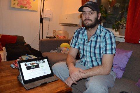 Sidney Padvua da Silva er fortsatt skremt etter meldingen som plutselig dukket på på nettbrettet hans