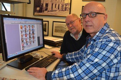 Redaktør Per Marvin Tennum (t.v.) og typograf Jonny Nordby håper at leserne opplever det som enklere at det nå blir en innlogging til alle tjenester og funksjoner på Østlands-Postens nettsider. Det er helt gratis å opprette en ny aD-bruker.
