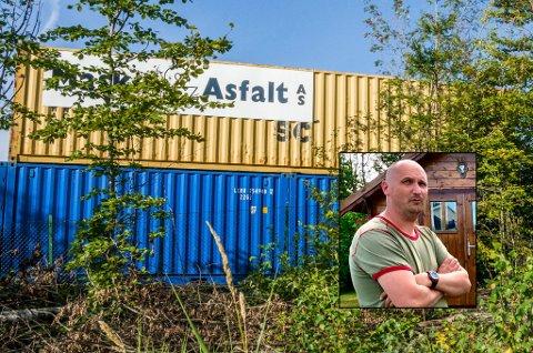 GIR SEG IKKE: Nabo Jon Håvard Fjeldheim har klaget kommunens vedtak i Maskin & Asfalt-saken inn for Fylkesmannen.