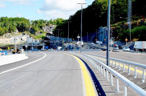 Snart delåpning: Går alt etter planen vil trafikken gå gjennom Larvikstunnelen fra slutten av august.