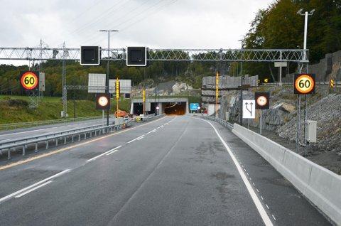 Klar: Larvikstunnelen er nå på det nærmeste klar til bruk for bilistene