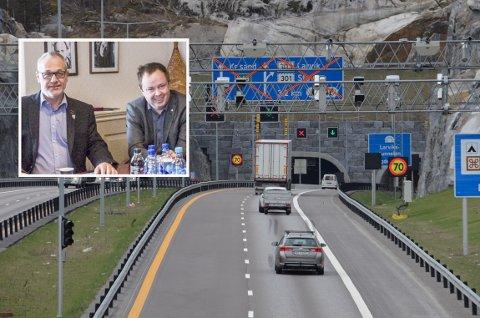 UTEN INNHOLD: – Svaret er meget forsinket og totalt uten innhold, sier Rune Høiseth og Robin Kåss om svaret fra samferdsministeren angående ekstra bompengeavgifter i perioden det er omkjøring på avkjøringen på E18.