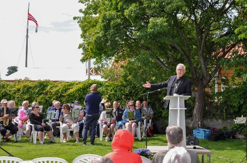 Snart ferdig: Pastor i Stavern frikirke, Alf Petter Hammersmark, var med på sin siste friluftsgudstjeneste som pastor.