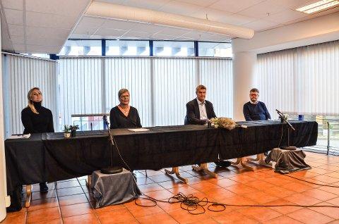 TAKKER: Innsenderen ønsker å takke de som har stått på i forbindelse med pandemien. Bildet er hentet fra en pressekonferanse i forbindelse med smitte i Larvik.