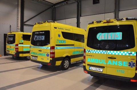 TRE SMITTET: Tre ansatte i ambulansetjenesten i Larvik er smittet av koronavirus