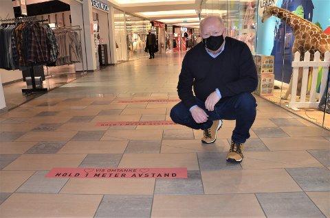 KREVENDE ÅR: For et stort kjøpesenter har koronaåret vært svært krevende. Det vet dobbelt senterleder Stig Eriksen nå alt om.