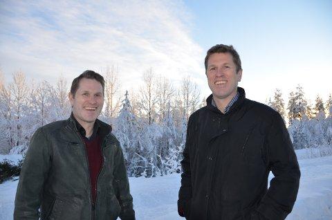 NYTT LEILIGHETSPROSJEKT:  Trond Ola ( til venstre) og Per Morten Hektoen på Savalen.