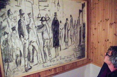 FOR 140 ÅR SIDEN: På museet er jernbanedirektør von Hannos skisse gjenskapt. Bildet viser avgang fra Tynset stasjon 13. oktober 1877. Foto: Tonje Hovensjø Løkken