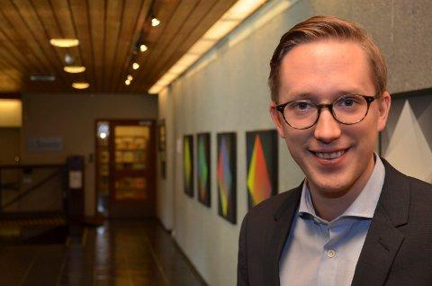 HEIA HAMAR: Høyres toppkandidtat til stortingsvalget Kristian Tonning Riise mener Hamar må bli innlandshovedstaden. (Foto: Bjørn-Frode Løvlund)