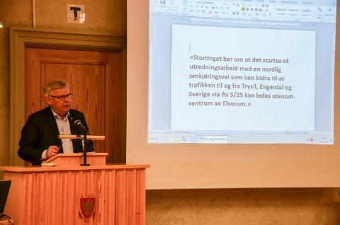 LEKKASJE: Her er merknaden som Hanstad fill lekke til kommunestyret i Elveum onsdag kveld