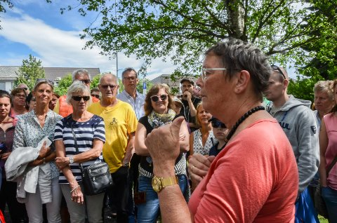 GAARDER: Anne-Birthe Aakrann Eek fortalte om Gaarders plass i krigshistorien