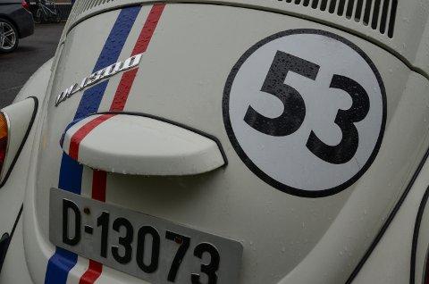 VETERANBIL: Bobla fra 1970 er utstyrt med stripene og startnummeret du husker fra filmene.