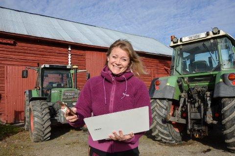 NØDVENDIG: Raks nettilgang er avgjørende for å kunne drive gård i dag, sier Beate Østbye i Heradsbygd.