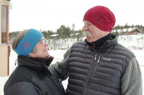 NYE TIDER: Kona Marit Bekken Martinsen får se mer til Tor Martinsen nå som hundekjørerkarrieren hans er over. De skal imidlertid se på hver sin TV.