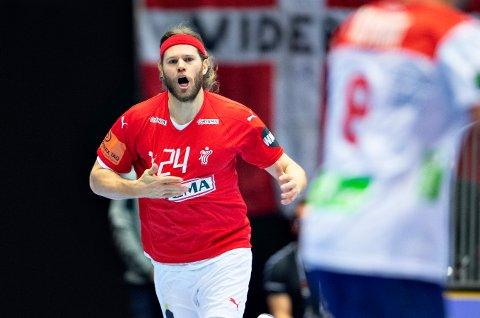 Mikkel Hansen var banens gigant mot Norge i håndball-VM. Foto: Henning Bagger / NTB scanpix