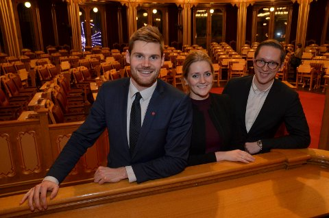 SKYT MER: Fra venstre Nils Kristen Sandtrøen (Ap), Emilie Enger Mehl (Sp) og Kristian Tonning Riise (H) hevder alle å stå på for mindre ulv. Men ved forslag om å felle, stemmer de ulikt.