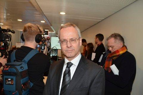 JOBBER MED ERSTATNINGSKRAV: Advokat Nicolai V. Skjerdal representer to av de tre Holøyen-brødrene i Tolga-saken. (Foto: Bjørn-Frode Løvlund)