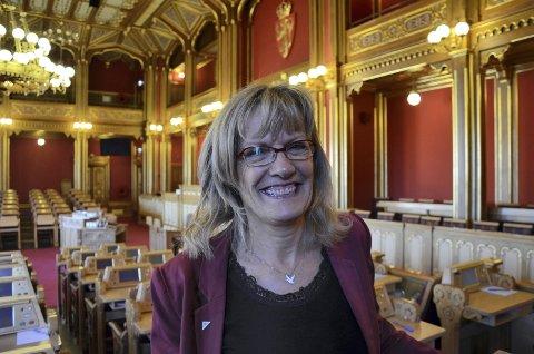 VIKTIGE SAKER: Stortingsrepresentant Karin Andersen (SV) sier bredbånd til alle og desentralisert utdanning er viktige saker, men hun har ingen tro på at Høyre vil stå i spissen for dette.