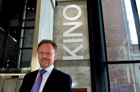 FORNØYD: Kinosjef Espen Jørgensen i Hamar er fornøyd med kinobesøket i mai.