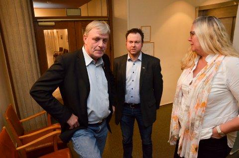 STOR KOSTNAD: Innleide sykepleiere koster Elverum kommune millionbeløp. Ordførerkandidatene Arnfinn Uthus (Sp), til venstre, Yngve Sætre (H) og  Lillian Skjærvik (Ap) vil ha en forklaring på hva som ligger bak tallene.
