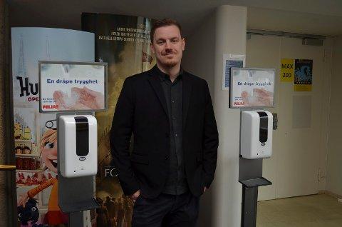 SMITTEVERN: Festivalsjef Øystein Egge sier smittevern har høyeste prioritet under Movies on War.