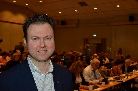 FORNØYD: Yngve Sætre (H) fra Elverum fikk andreplassen på stortingslista til Høyre i Hedmark, noe han er veldig godt fornøyd med.