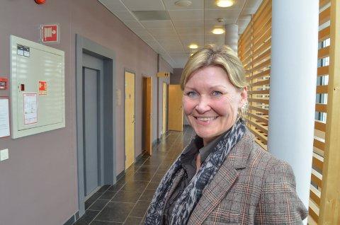 GRØNT LYS: Styreleder Kristin E. Gangås opplyser at det nå er grønt lys for grønt gymnas på Koppang. Skolen åpner til høsten.