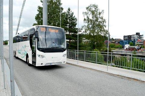 ENDRINGER: Det blir endringer i busstilbudet mellom Elverum og Hamar fra og med mandag 18. oktober.