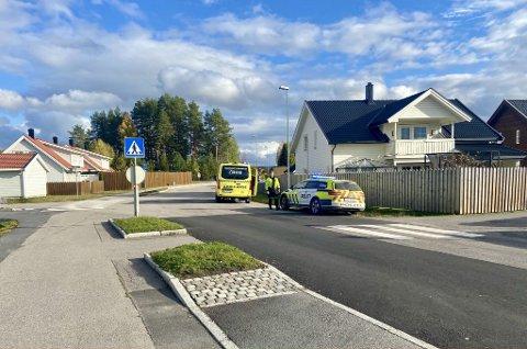 ULYKKE: Nødetatene rykket ut til en påkjørsel på Søbakken i Elverum tirsdag.