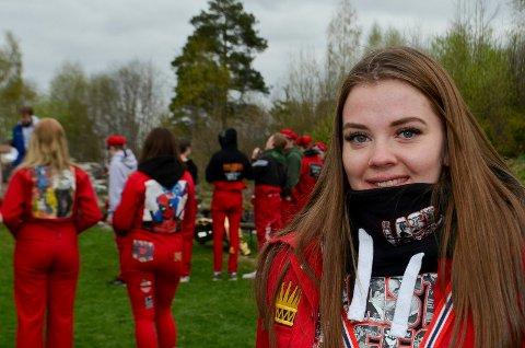 RUSSEPRESIDENT: Russepresident Maren Søyland (19) er glad for at russetida endelig er i gang.