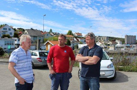 Morten og Even Evensen eier Brødrene Evensen AS. Her med Trond Ingebretsen.
