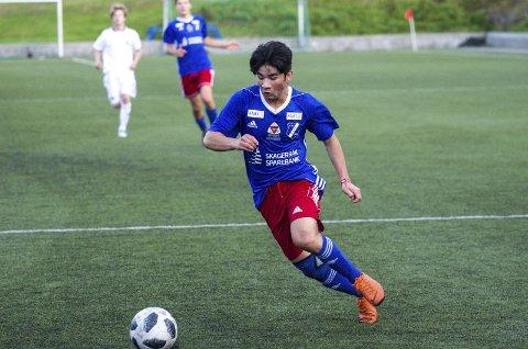 Målscorer: Ali Qasimi kom inn som innbytter og satt inn ett av Stathelles fire mål under kampen mot Ulefoss. foto: Thomas furuheim