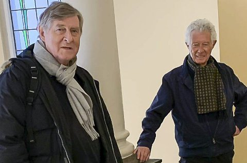 STIFTELSE: Gjestland og Kjell Egil Larsen i stiftelsen.