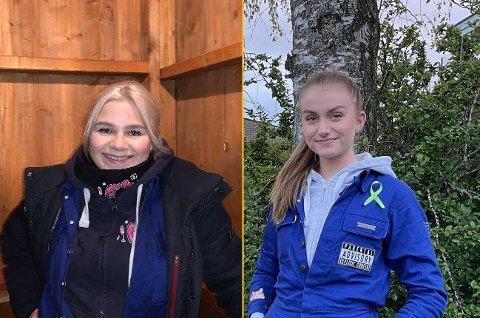 Russetiden: Edel Johanne Snopestad (til venstre) og Anna Nærby har ikke mye å klage på når hun får spørsmål om hva hun savner med årets russetid. Foto: privat.