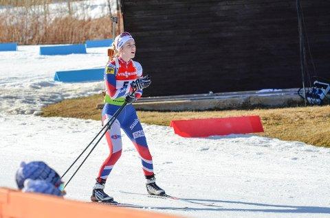 Emilie Ågheim Kalkenberg leverte et nytt sterkt løp i dagens fellesstart da hun ble nummer ti på Sjusjøen.