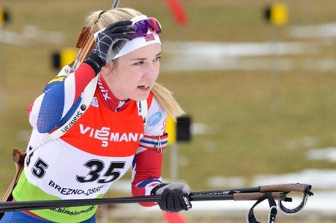 DEBUTERER: Emilie Ågheim Kalkenberg, Skonseng UL, er klar for å debutere i B-verdenscupen i skiskyting torsdag. Foto: Gøran O. Pedersen