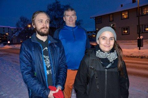 Mental helse starter opp i Rana igjen. FV: Ståle Nordlund, Reidar Ystenes og Ane-Martha  Tamnes Hansgård.