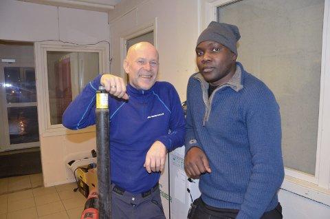 Samarbeid: Frank Westvik og John Derek Ssematenao jobber mye sammen.
